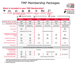 Click to download an overview of our membership packages