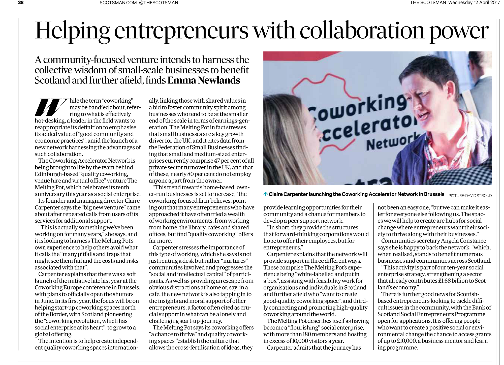 Helping entrepreneurs with collaboration power