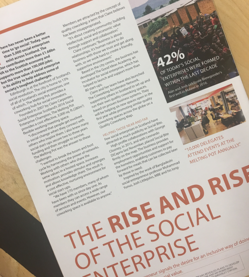 "Invest Edinburgh, ""The Rise and Rise of Social Enterprise"", March - June 2017"