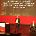 """""""Small acts, when multiplied by millions of people, can transform the world."""" Peter Holbrook from Social Enterprise UK quotes Howard Zinn at SEWF17"""