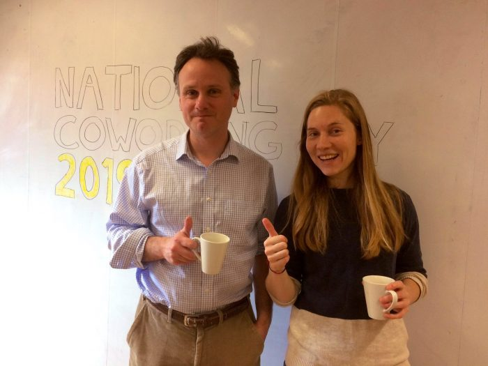 National Coworking Day 19: Robert & Lizzie at TMP